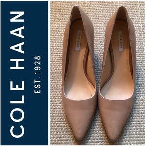 Cole Haan nude pumps